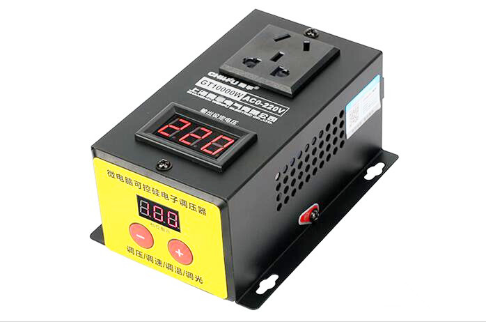 AC 220V 10000W High Precision Adjustable Thyristor Electronic Voltage Regulator Electronic Dimmer Speed/Temperature Silicon