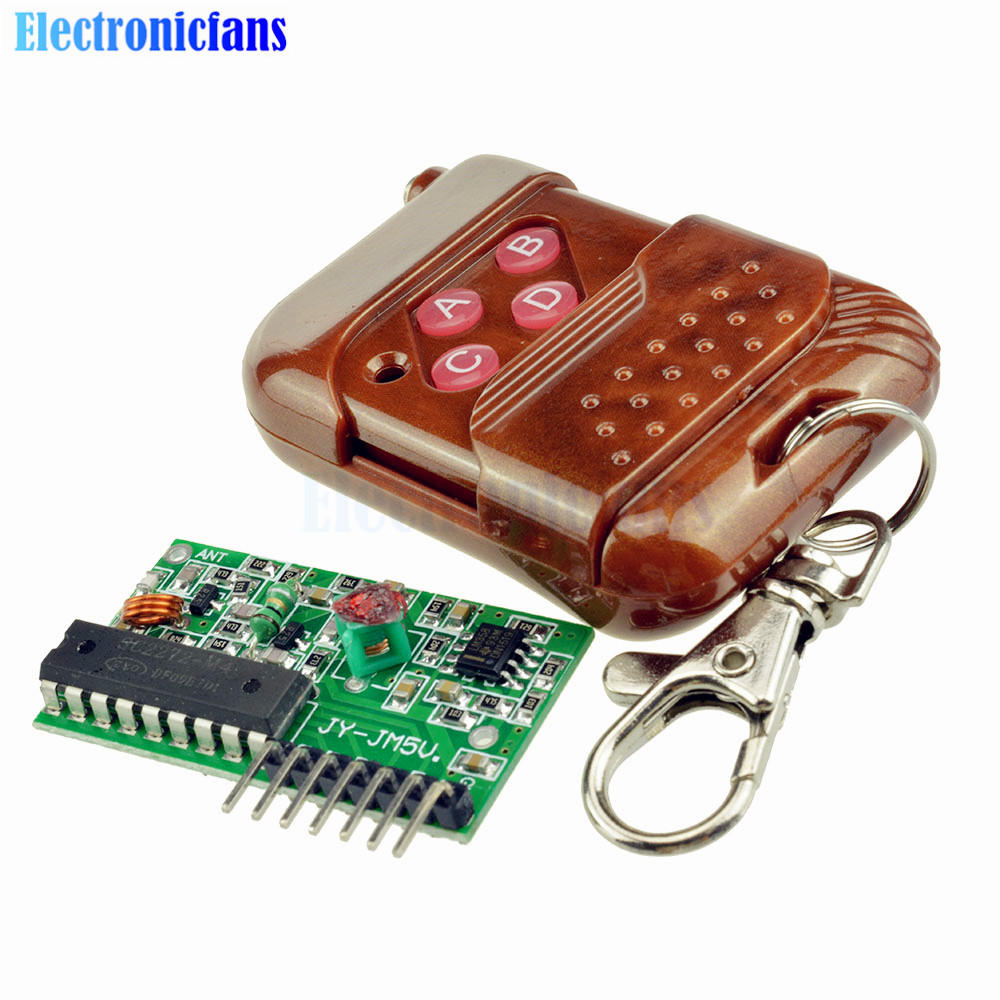 12ch Wireless Transceiver Codec Rf Remote Control Module 3 5v Delay Keymemoryinfraredremotecontrolreceivercircuit 1set 2262 2272 Four Ways 4 Ch Key Kit 315mhz Ask Decoding