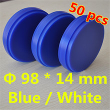 Wholesale 50 Piece OD98*14 MM Dental Lab Materials Wax Blocks Wieland System Blue White Carving Blank Disc For Crowns