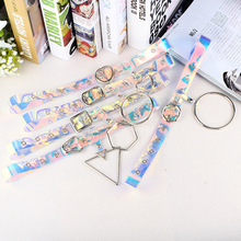 Heart Belts For Women Resin Cute Transparent Belt Jeans Dress Waist Strap Pin Metal  Buckle Harajuku Ladies Round Clear Belt