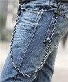 Hip hop Jeans Punk Rock cadena de la cintura pantalones fresco del motorista hombres con estilo