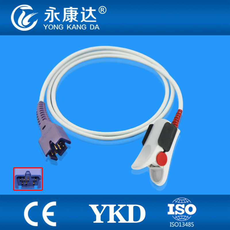 ФОТО Free Shipping FOR Masimo DB9 7pin Mindray T8 spo2 sensor,need ext-cable