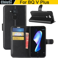 10 Pcs Lot Wallet PU Leather Case Cover For BQ V Plus Flip Protective Phone Back