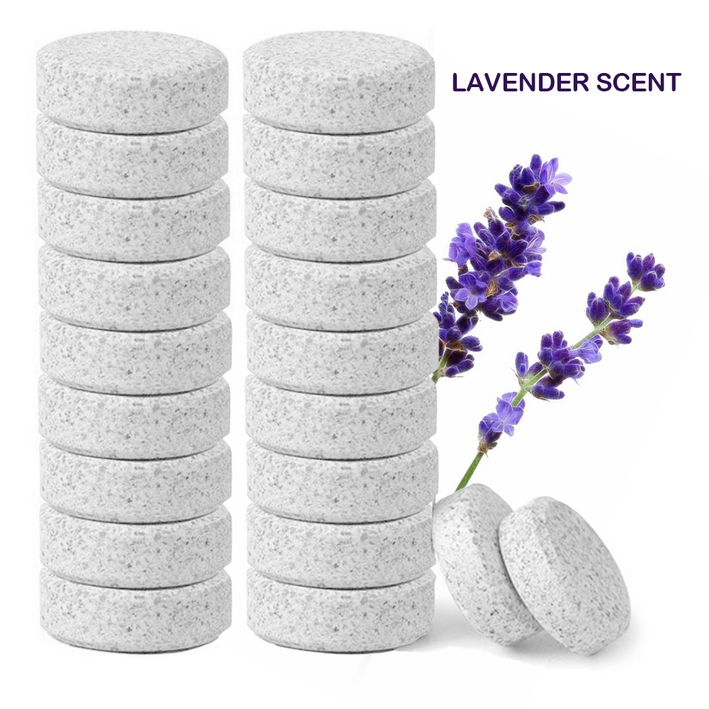 Image 2 - 20 pcs Multifunctional Concentrate Lavender/Lemon Effervescent Spray Cleaner Home Toilet Cleaner Chlorine Tablets VClean Spot-in All-Purpose Cleaner from Home & Garden