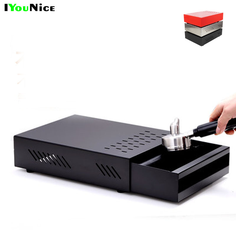 Professional Stainless Steel Coffee Espresso Grounds Residue Knock Box Drawer Style for Barista Coffee Bar Grounds ContainerProfessional Stainless Steel Coffee Espresso Grounds Residue Knock Box Drawer Style for Barista Coffee Bar Grounds Container