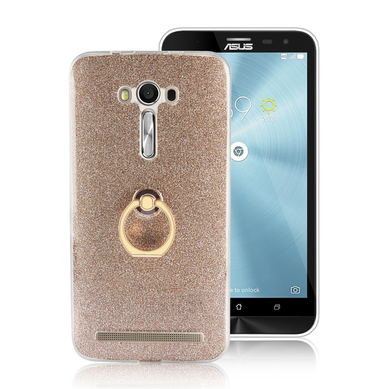 huge selection of 4313d 9b000 Coque Soft TPU Luxury Case for Asus ZenFone 2 Laser ZE550KL Case Cover For  Asus ZE550KL Ze551kl Glitter Silicon Ring Back Cover