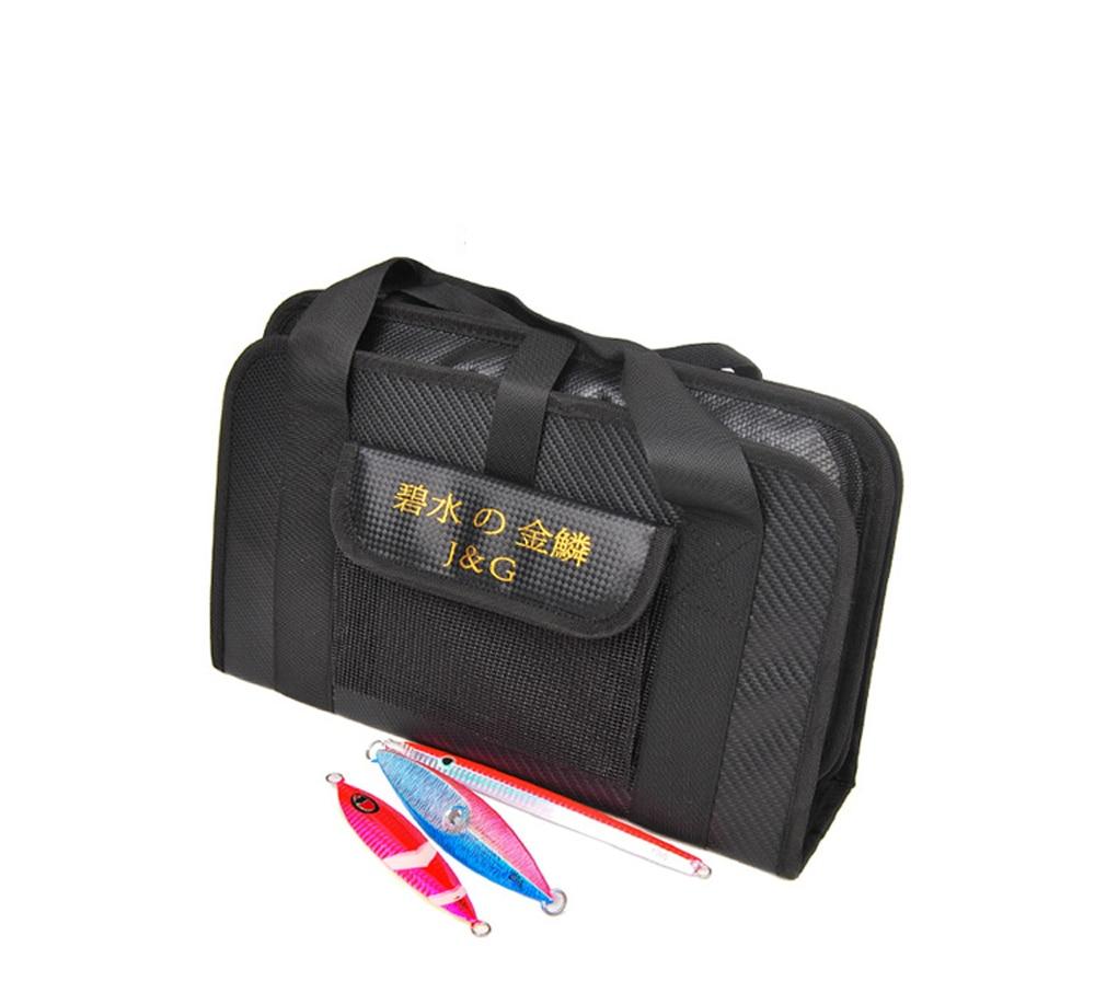Sea Fishing soft lure Jigging Jig bag waterproof Canvas bags Lure tool accessories 33x12x8cm