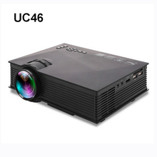 WZATCO UC46 Wifi/Miracast/Airplay Mini LED LCD 3D Proyector de Cine En Casa Cine Pico Projektor Portátil fUlL hd Proyector Beamer