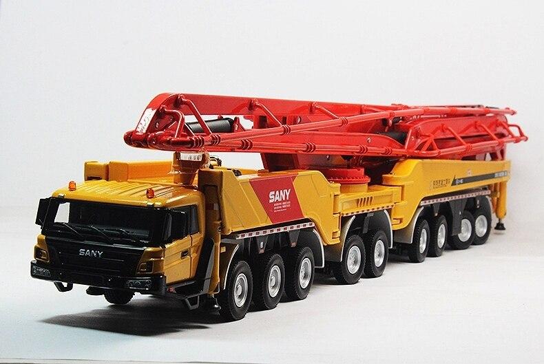 1:50 SANY HB86 juguete de bomba de cemento para camión-in Troquelado y vehículos de juguete from Juguetes y pasatiempos    1