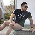 2016 Nova EUA Marca de moda vestuário dos homens t-shirt homme exercício de musculação Academias t-shirt gymshark homens da camisa de t t-shirts de crossfit