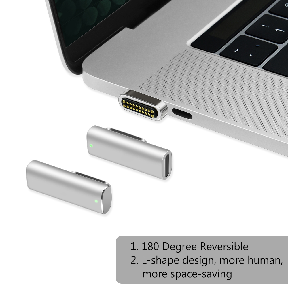Image 5 - Support High Speed 100W  Magnetic Adapter USB Type C For Macbook Pro 20 pin USB Type C Charge Connector For Pixelbook/Matebook-in Phone Adapters & Converters from Cellphones & Telecommunications