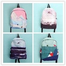 Корейских и японских декорации сериалы вышивка рюкзак моды элегантное стиль холст свежий забронировать сумка школьная сумка