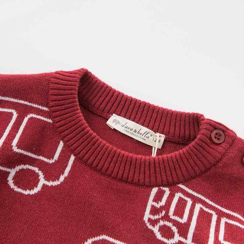 DB8843 dave bella herfst gebreide trui baby baby jongens lange mouw trui kids peuter tops kinderen gebreide trui