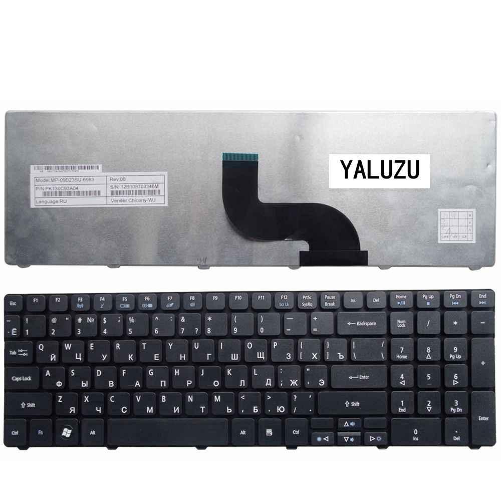 YALUZU Русский RU для Аккумулятор для ноутбука 5742 г 5740 5742 5810 т 7735 7551 5336 5410 5536 5536G 5738 5738G 5252 5742Z Клавиатура ноутбука