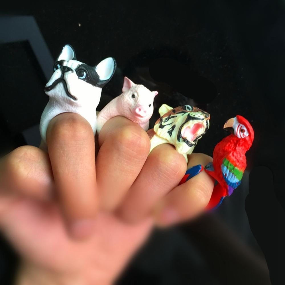 New Funny Cute 3d Animal Tiger Parrot Dog Seal Open Adjustale Ring Rings  Women Men Jewelry Anillos Mujer Hombre