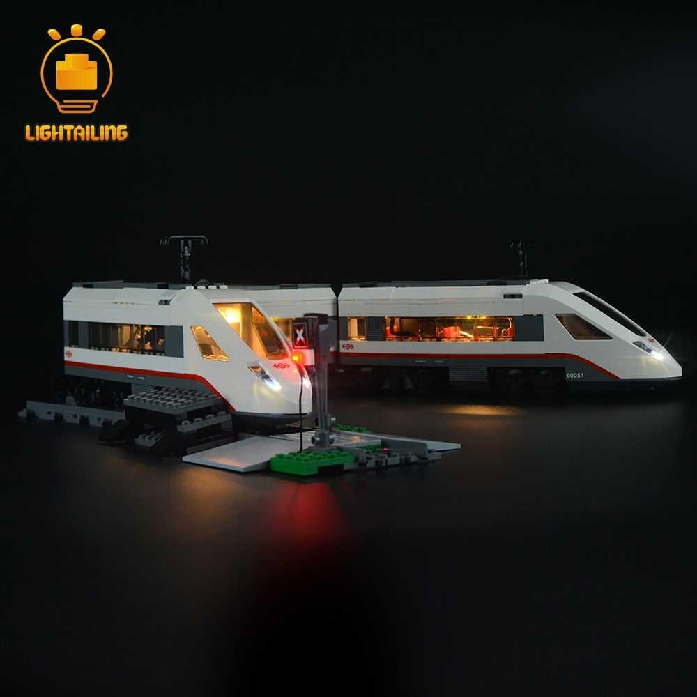 Zestaw oświetlenia Led Light zestaw do kolejowych, pociągów szybkie statki pasażerskie w Building Block zestaw światła kompatybilny z 60051