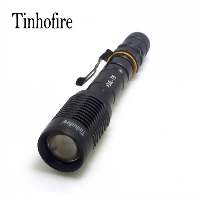 Tinhofire Z5 Cree XM-L T6 1600LM Zoom LED FlashLight Torch Light Lamp