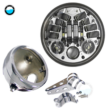 5.75 inch led projector Daymaker headlight with White DRL lights For Honda Shadow Aero Phantom VLX 600 750 VT 1100.