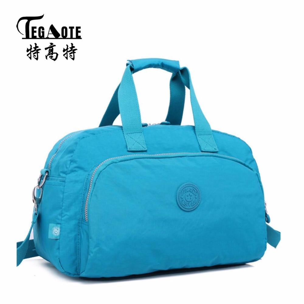 TEGAOTE Waterproof business trip Bag for Women Men's Short Travel Luggage Bags Nylon Crossbody Bag Tote Duffle Bags цена