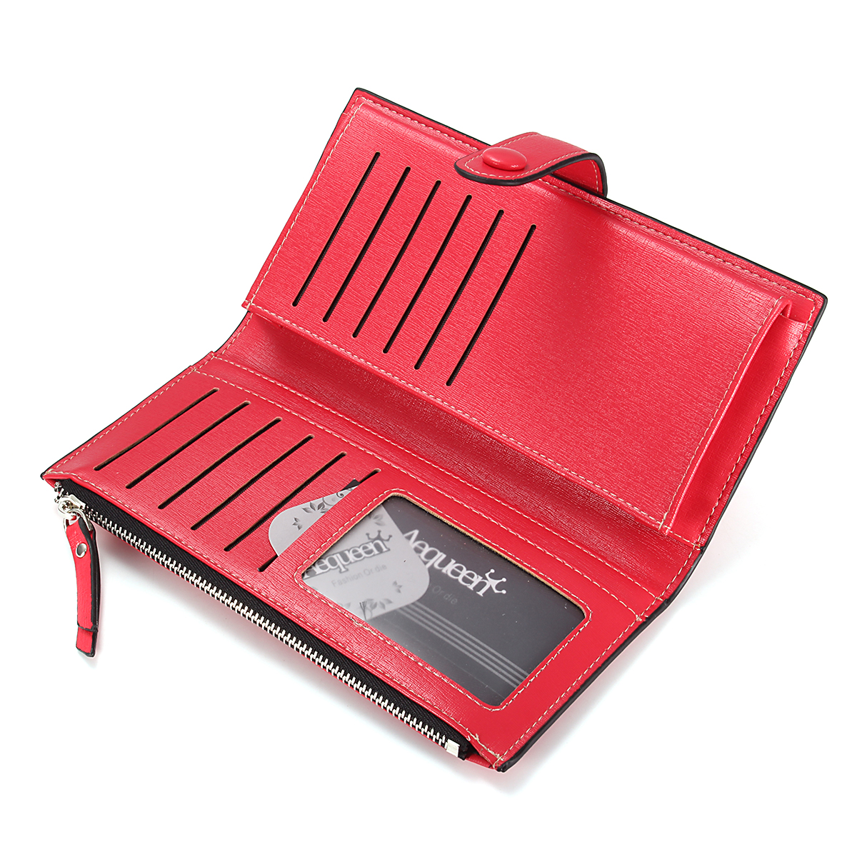 couro longo carteira feminina ferrolho Wallet Estilo : Fashion Women Wallet Zipper