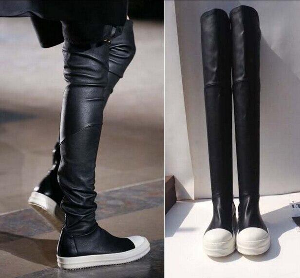 Online Get Cheap Long Black Flat Boots -Aliexpress.com | Alibaba Group