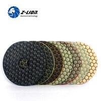 Z LION 5 Dry Flexible Polishing Pads 7PCS Set 125mm 5 Inch Resin Diamond Grinding Disk