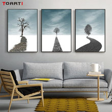 Nordic Sketch Road To Tree Canvas Art Painting Abstract Poster And Prints Wall Picture For Bedroom Modern Cuadros Home Decor(China)