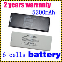 Free Shipping 6 Cells Laptop Battery For Apple MacBook 13 Inch A1181 A1185 MA561 MA566 White