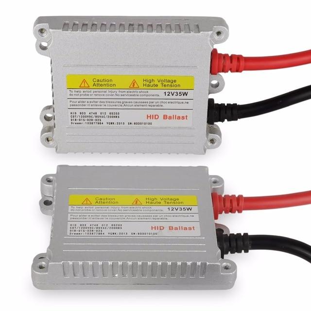 Safego 2X HIDซีนอนบัลลาสต์บาง12โวลต์35วัตต์บล็อกignitorเครื่องปฏิกรณ์ballastro xenon hidบัลลาสต์เปลี่ยนH4 H7 H3 H11ไฟหน้า