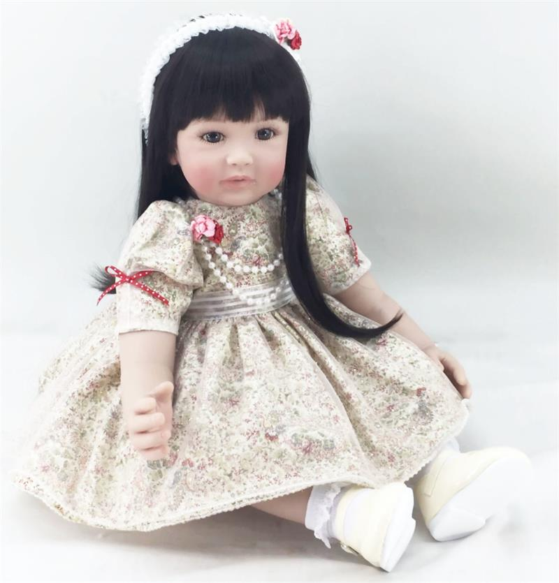 60cm high quality silicone vinyl reborn baby dolls girl soft vinyl real gentle touch bebes reborn new born real baby60cm high quality silicone vinyl reborn baby dolls girl soft vinyl real gentle touch bebes reborn new born real baby