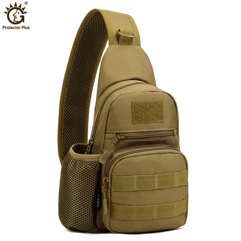 Mannen Messenger Bag Molle enkele schouder Borst Pack Militaire Sling Bag Camouflage Army Bag Casual apparatuur X39
