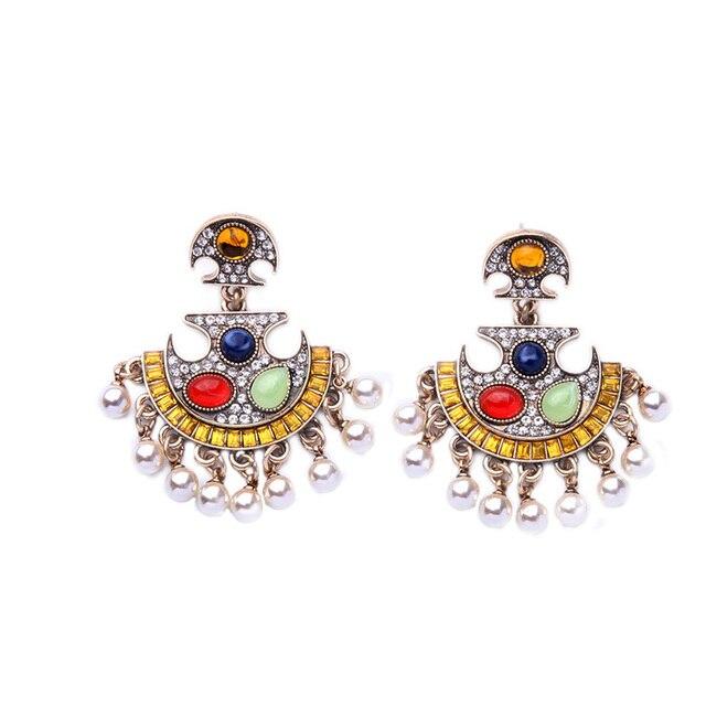 Pearl chandelier drop earrings antique gold modern bridal paisley pearl chandelier drop earrings antique gold modern bridal paisley polki pearl fringe earrings fashion jewelry aloadofball Image collections