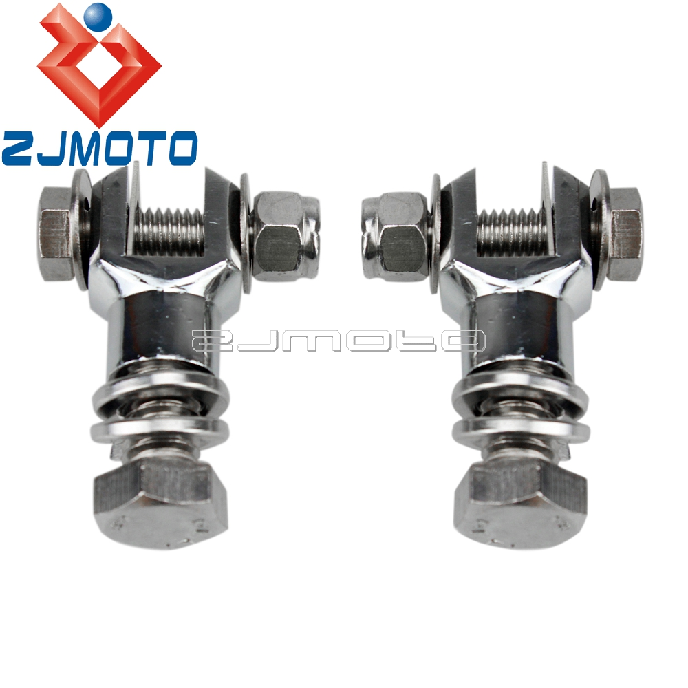 Motorcycle Footpeg Mounting Clevis Chrome Footpeg Mount Foot Peg Clevis Mounts Bolt Nut Screw Kit For Harley Bobber Chopper
