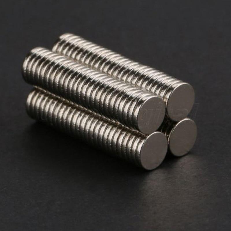 New 100 Pcs 5mm X 1mm Disc Rare Earth Neodymium Super Strong Magnet N35 Craft Mode