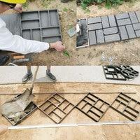 Garden plastic paving floor tiles cement mould plastic pavement mould garden decoration concrete mould garden paving mould