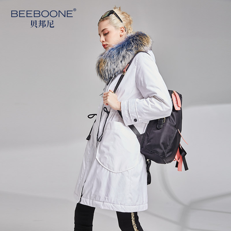 BEEBOONE2018 women down coat jackets
