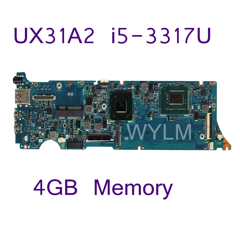 UX31A2 With Processor I5-3317 CPU 4GB Memory Mainboard REV2.0 For ASUS UX31A2 UX31A Laptop Motherboard 100% Tested Free Shipping