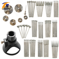 78Pcs Rotary Tool Attachment Dremel Accessories Jade Carving Set Jade Carved Grinding Needle Diamond Grinding Head