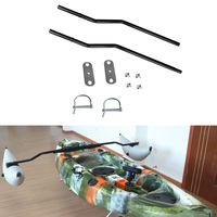 2PC Canoe Inflatable Outrigger Kayak Stabilizer Sidekick Standing Pole Water Buoy Float Pole
