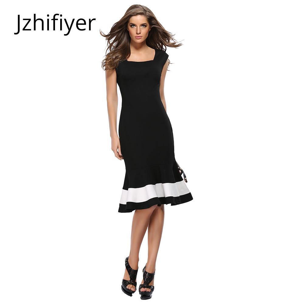 womens summer dress mujer vestidos sleeveless fashion feminine dresses trumpet mermaid women long black
