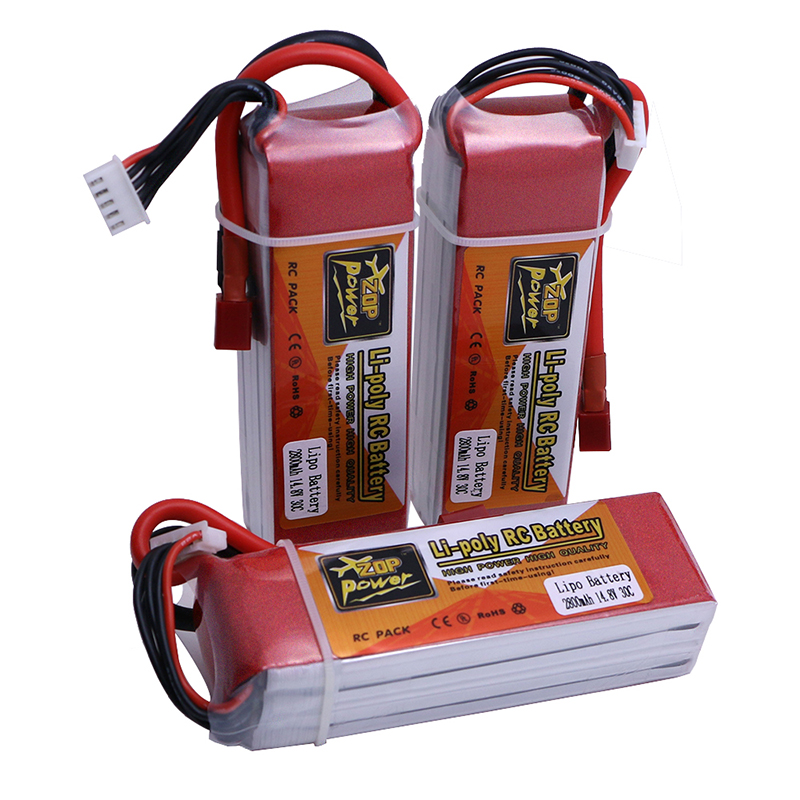 1 Pcs High Quality ZOP Power 14.8V <font><b>2800mAh</b></font> <font><b>4S</b></font> 30C <font><b>Lipo</b></font> Battery T/XT60 Plug High Power image