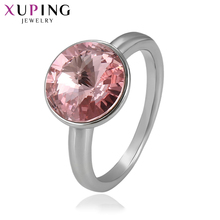 Xuping Jewelry Round Style Ring Lucky Crystals from Swarovski Simple for Women Christmas Eve Gift S142.8-14375