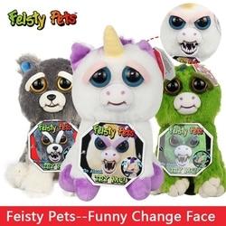 Change Face Feisty Pets Sloth Koala Bear Dog Funny Stuffed &Animals Plush Dolls Toy