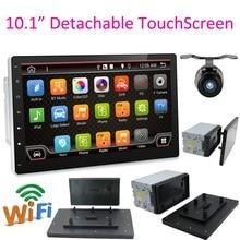 """Cuối cùng Bán Hàng 10.1 """"2 DIN Quad Core Radio Stereo Autoradio GPS Dẫn Đường Có Thể Tháo Rời Màn Hình Cảm Ứng Đầy Đủ Android 6.0 không DVD SD"""