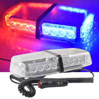 24LED Car Flashing Police Light LED Fog Lights Short Row Ceiling Lamp Red and blue Yellow Blue Warning Light Ceiling lamp