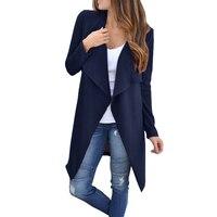A maglia Sottile Lunga Giacca 2018 Nuovo Autunno Maglia Giacche Cappotti Moda Tessuto Caldo Maglione Cardigan Delle Donne Femme Plus Size GV094