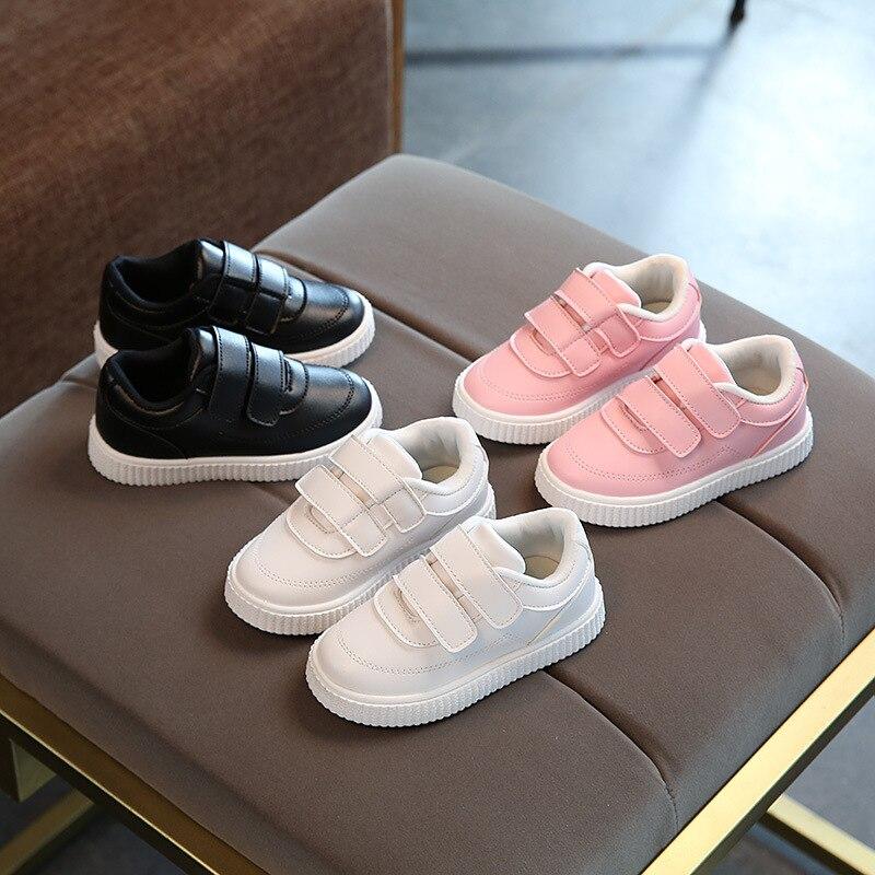 2018 Hook & Loop модная унисекс детская обувь дышащие милые дети повседневная обувь в европейском стиле для маленьких девочек кроссовки для мальч...