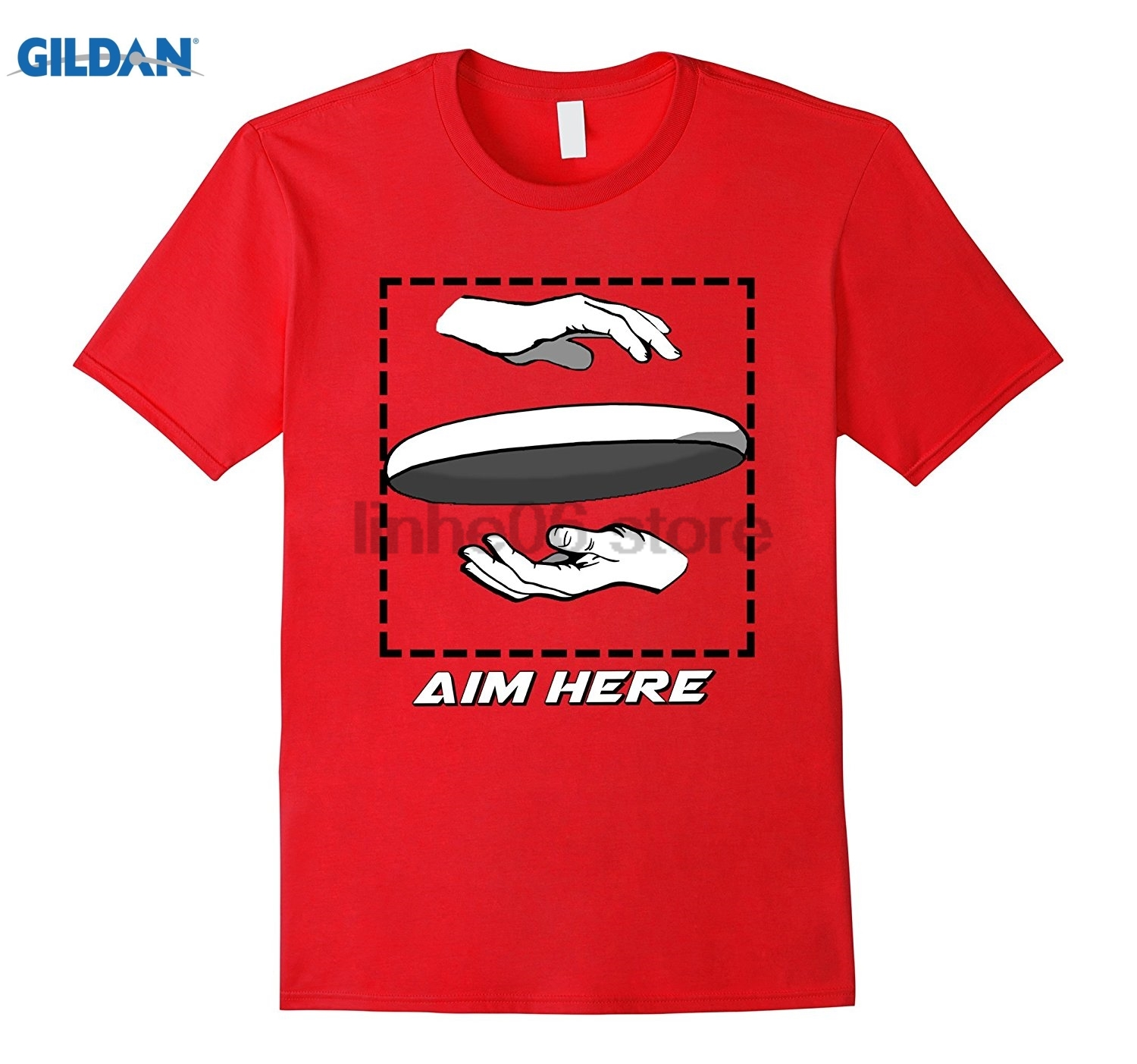 GILDAN Aim Here. Ultimate Frisbee Shirt Womens T-shirt ...