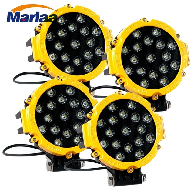 4pcs 7inch 12V 24V 51W LED Work Light External lights For Tractor ATV Motorcycle LED Offroad 4x4 4WD off road work lights