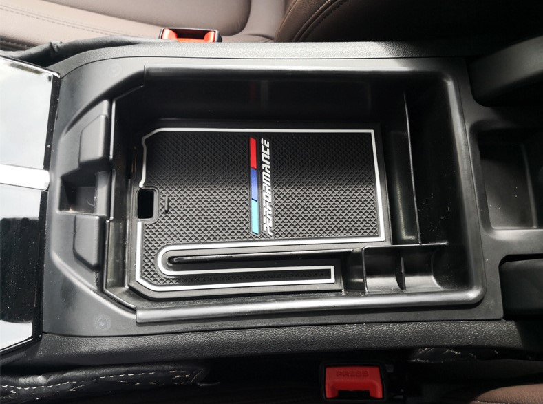 Auto Accessories ABS Non-Slip Mat Center Armrest Storage Box Glove Box Storage Box For <font><b>BMW</b></font> <font><b>X3</b></font> <font><b>G01</b></font> <font><b>2018</b></font> Car-Styling image